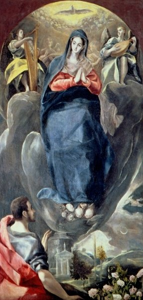 El Greco's painting of St. John Contemplating the Immaculate Conception