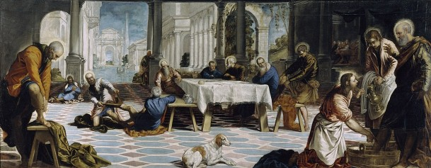 Painting of the Last Supper by Tintoretto