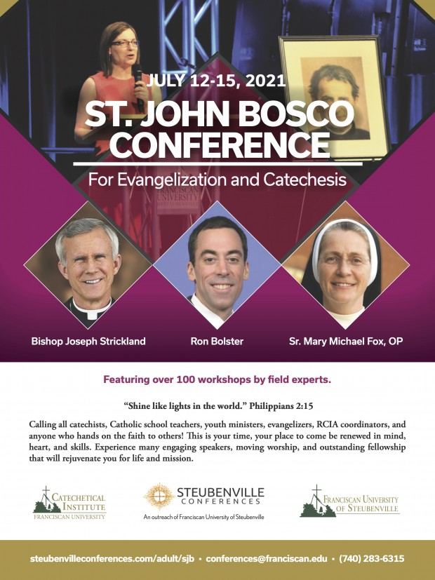 Ad for St. John Bosco Conference