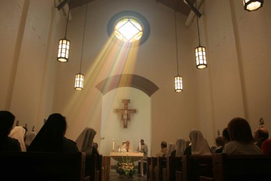 Mass in franciscan chapel