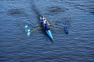 Photo of rowing team on water