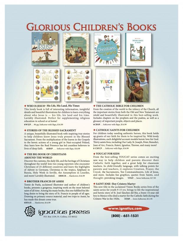 children's book covers from Ignatius Press