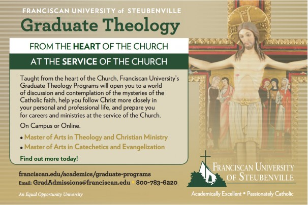 Advertisement for Graduate Theology Degrees