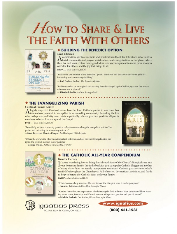 Ignatius Press advertisement for books for Evangelization