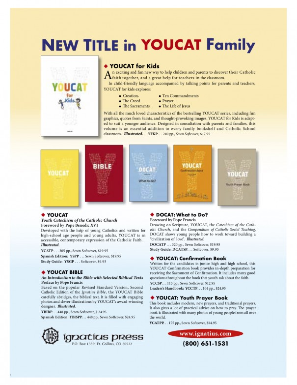 Advertisement for YOUCAT for Kids and other titles in the series