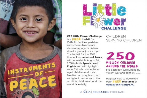 Catholic Relief Services' ad for Little Flower Challenge Toolkit