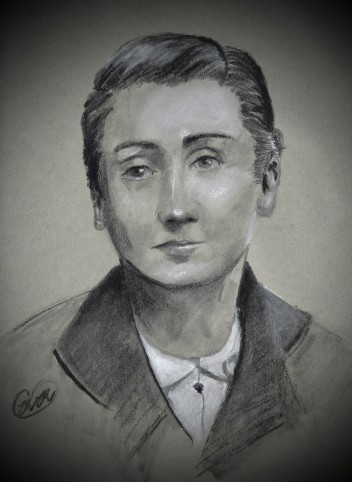 Sketch of Madeleine Delbrel by Clare Rainone