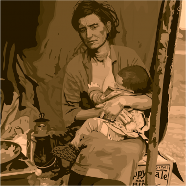 picture of migrant mother with child