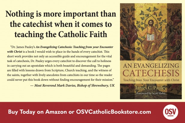 Ad for James Pauley's book An Evangelizing Catechesis.