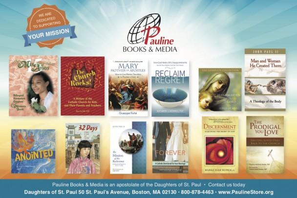 Advertisement for books from Pauline Books & Media