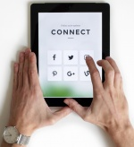 Photo by NordWood Themes of Hands with Digital Device on Unsplash.com.