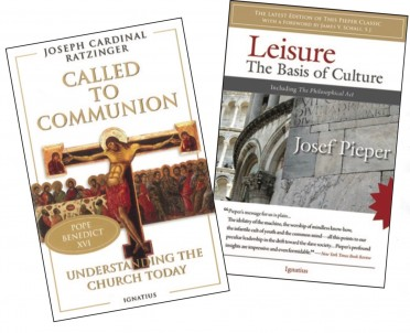 Covers of Ratzinger's and Pieper's books