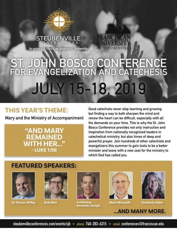 AD for Conference for Evangelization & Catechesis July 15-18, 2019