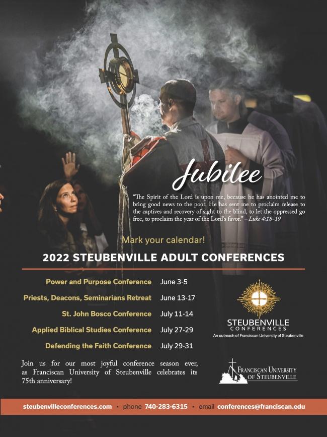 2022 Summer Steubenville Adult Conferences Dates