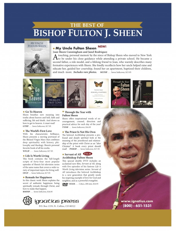 Ignatius Press ad for Bishop Sheen books