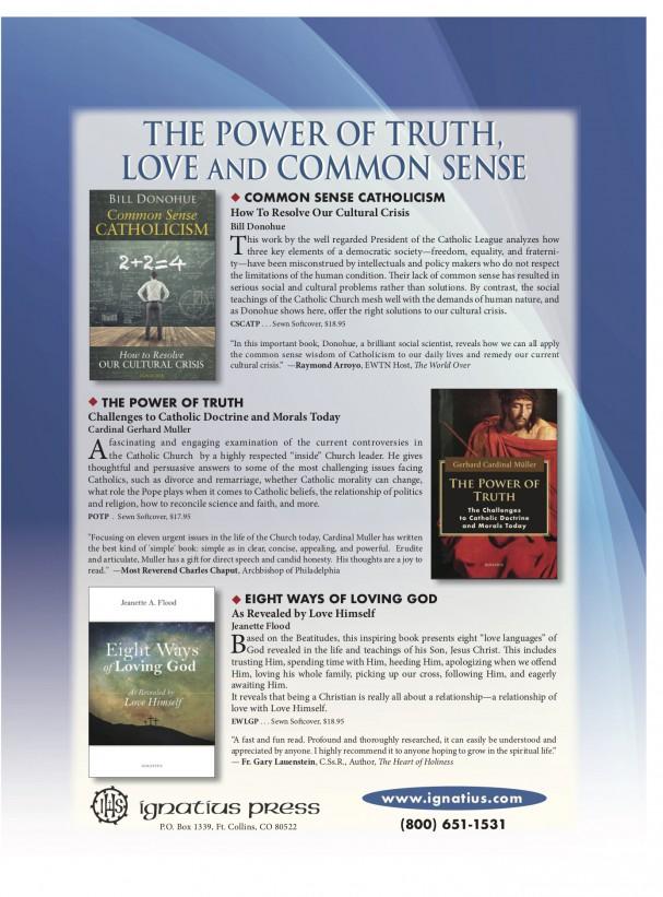 advertisement for Ignatius Press books
