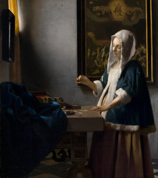 Vermeer's painting of a Woman Holding a Balance