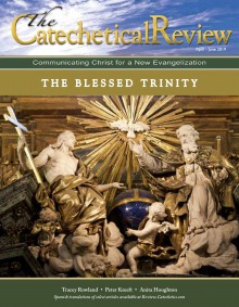 Cover of the April-June 2019 issue of the Catechetical Review on the Blessed Trinity