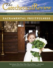 Cover of the January to March 2019 issue of The Catechetical Review on Sacramental Fruitfulness