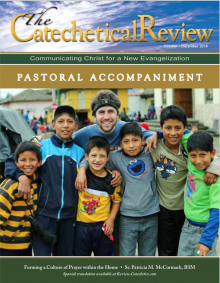 Cover of the October 2018 issue of The Catechetical Review on Pastoral Accompaniment